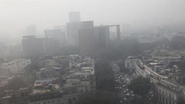 La contaminación se dispara y causa alarma en Nueva Delhi
