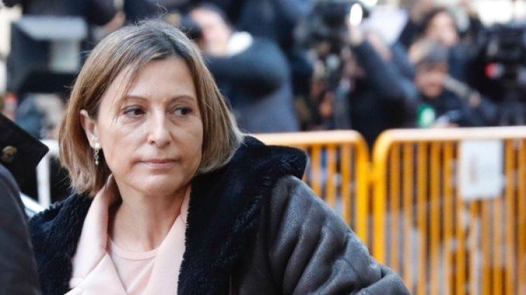 La llegada de Carme Forcadell al Tribunal Supremo en Madrid (EFE)