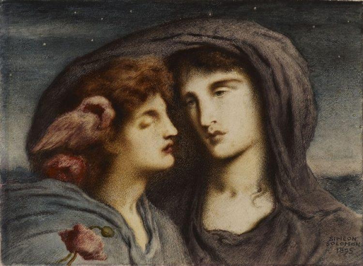 Pintura de Simeon Solomon (1895)