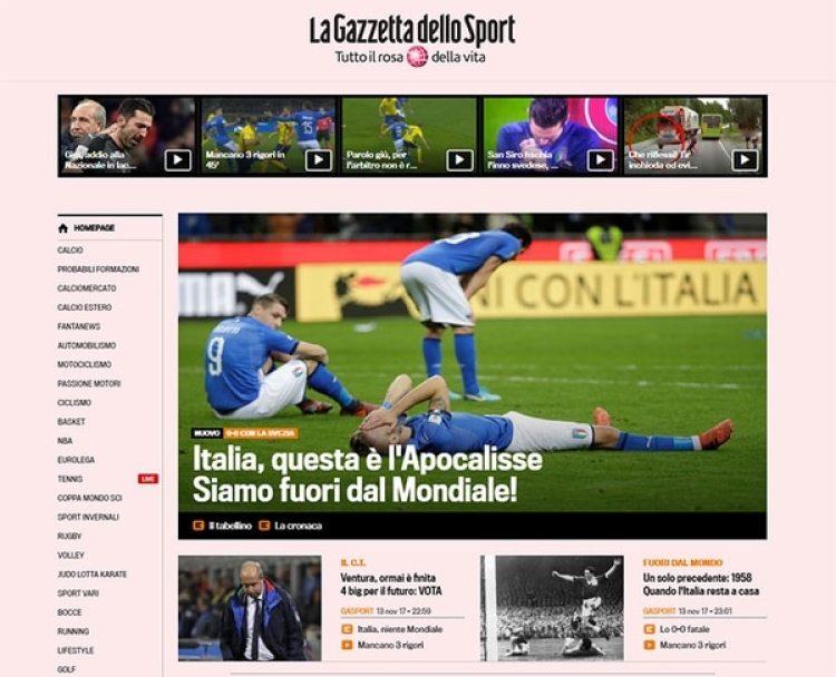 La Gazzetta, de Italia, habló de Apocalipsis