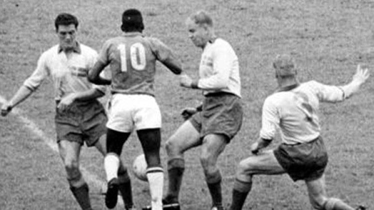Imagen de Suecia 1958, el primer Mundial en el que se consagró Brasil (Wikipedia)