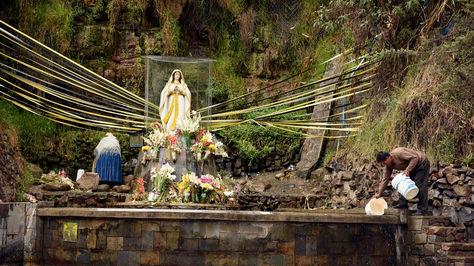 La Gruta de Lourdes en La Paz. Foto: La Razón, archivo