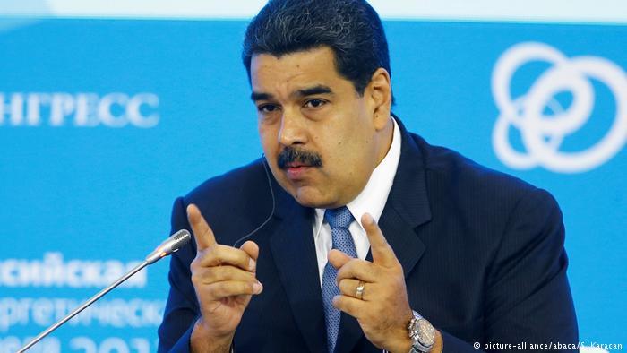 Russland Präsident Nicolas Maduro in Moskau (picture-alliance/abaca/S. Karacan)