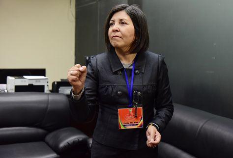 La ahora exvicecanciller María Luisa Ramos