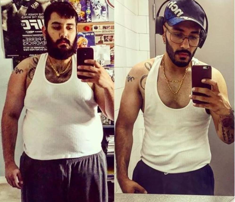 Foto: Panesar, antes y después. (Instagram)