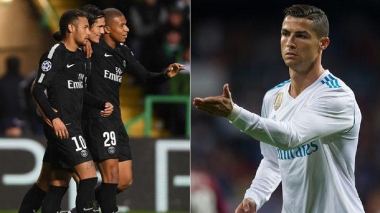 Cristiano Ronaldo no cree que el PSG de Neymar, Cavani y Mbappé sea un problema (Getty Images)