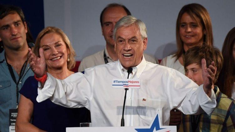 Sebastián Piñera, tras ganar la primera vuelta en las elecciones de Chile (AFP)