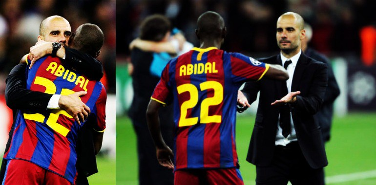 Image result for abidal y guardiola