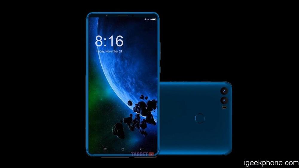 Imagen conceptual del diseño del Xiaomi Mi Max 3