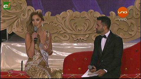 La respuesta de Miss Chile: El mar le pertenece a Bolivia