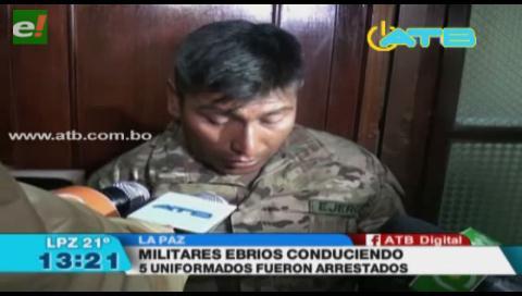 Dos militares fueron detenidos por conducir en estado de ebriedad