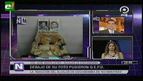 """Alcalde Leyes: """"El MAS no respeta la vida ni a los muertos, colocar mi foto es desearme la muerte"""""""