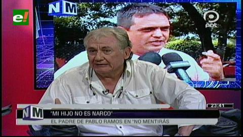 """Carlos Ramos: """"Mi hijo no es narco"""""""