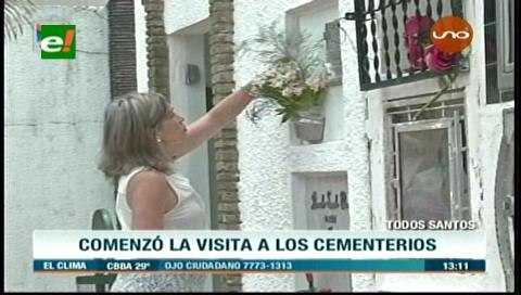 Santa Cruz: Inicia la fiesta de Todos Santos y la visita masiva a cementerios