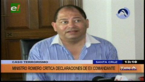 Caso terrorismo: Romero criticó a excomandante Farfán por esperar 9 años para declarar