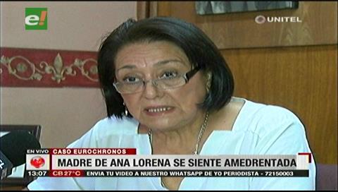 Madre de Ana Lorena Torrez se siente amedrentada tras declaraciones de Abel de la Barra