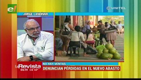 Alcaldía cruceña afirma que reclamo de mayoristas del Abasto fue político