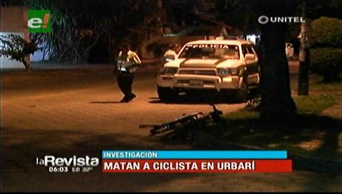 Santa Cruz: Hallan sin vida a un ciclista en Urbarí, tenía un disparo en el cuerpo
