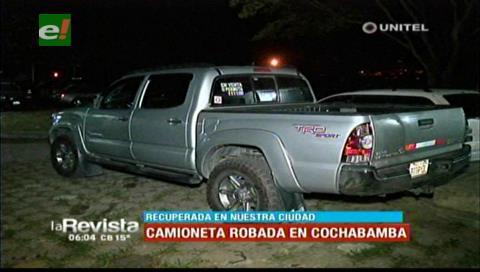 Diprove recupera vehículo que fue robado el pasado año en Cochabamba