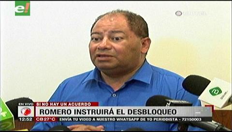 Romero instruirá desbloquear las vías si los transportistas no levantan la medida