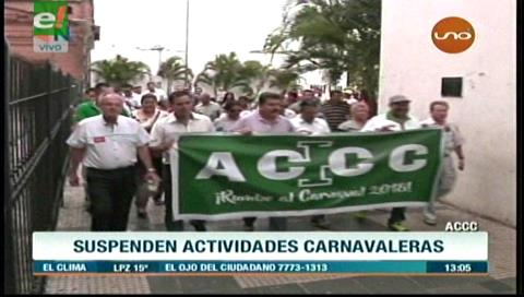 La ACCC suspende su agenda carnavalera tras fallo del TCP