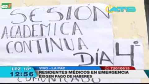 Residentes médicos del Hospital de Clínicas denuncian que no reciben sueldos