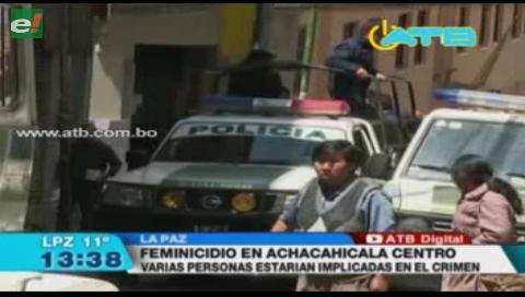 Encuentran el cadáver de una mujer en Achachicala