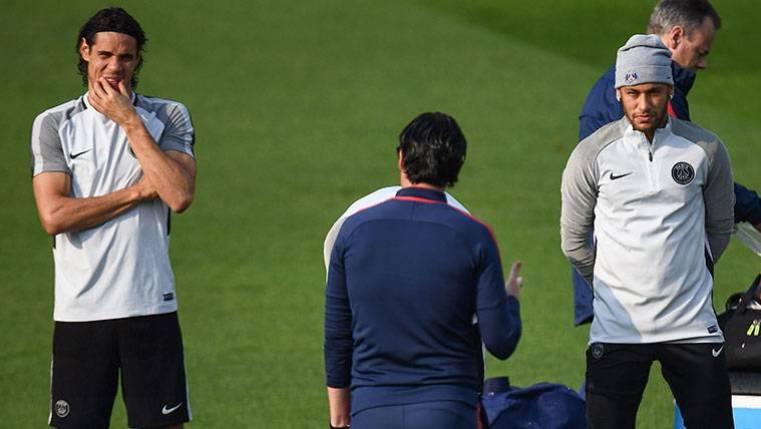 Unai Emery le pone fin a la polémica entre Neymar y Edinson Cavani
