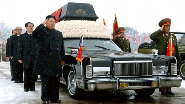 Kim Jong-un en el funeral de su padre