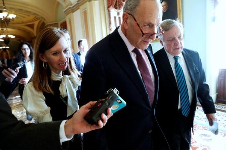 El líder de la minoría demócrata en el senadoChuck Schumer. (REUTERS/Jonathan Ernst)