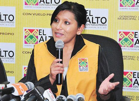 La alcaldesa de El Alto, Soledad Chapetón, de Unidad Nacional