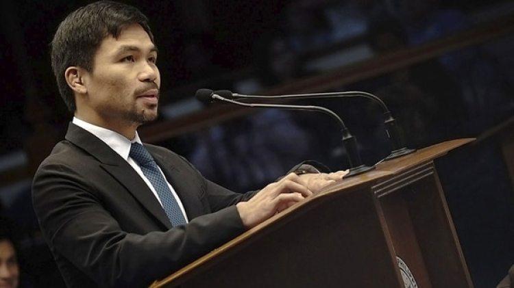 Pacquiao se ha volcado a su carrera como Senador de Filipinas desde que perdió ante Horn el pasado mes de julio (EFE)