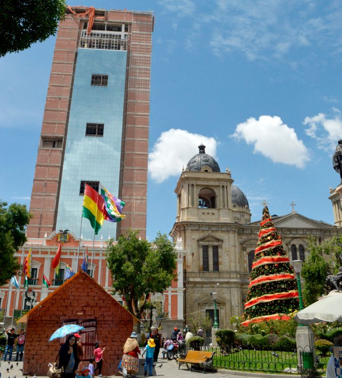 Hermetismo en construcci n del nuevo palacio de gobierno for Casas minimalistas la paz bolivia