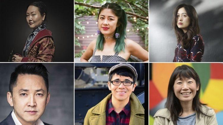 Arriba, de izq. a derecha: Hanya Yanagihara, Jenny Zhang y Rowan Hisayo Buchanan. Abajo: Viet Thanh Nguyen, Ocean Vuong y Madeleine Thien. Las nuevas voces de la literatura asiática-estadounidense