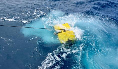 Imágenes del buque Atlantis, de la Marina estadounidense, durante la búsqueda del submarino de la Armada Argentina ARA San Juan. Foto: EFE