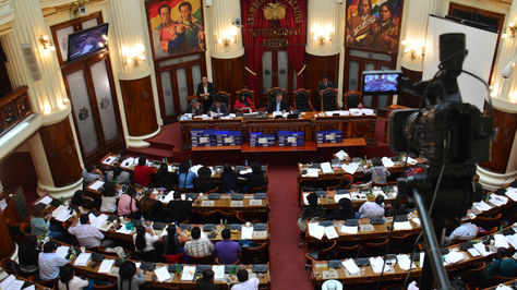 Sesión de la Asamblea Legislativa en la que se aprobó el informe sobre Papeles de Panamá.