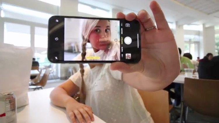 La cámara del iPhone X (Archivo)