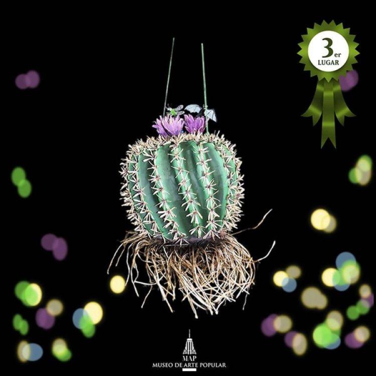 Piñata ganadora del tercer puesto en el concurso.