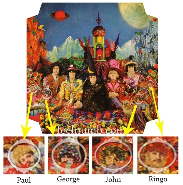 "The Beatles en la tapa de ""Their Satanic Majesties Request"""