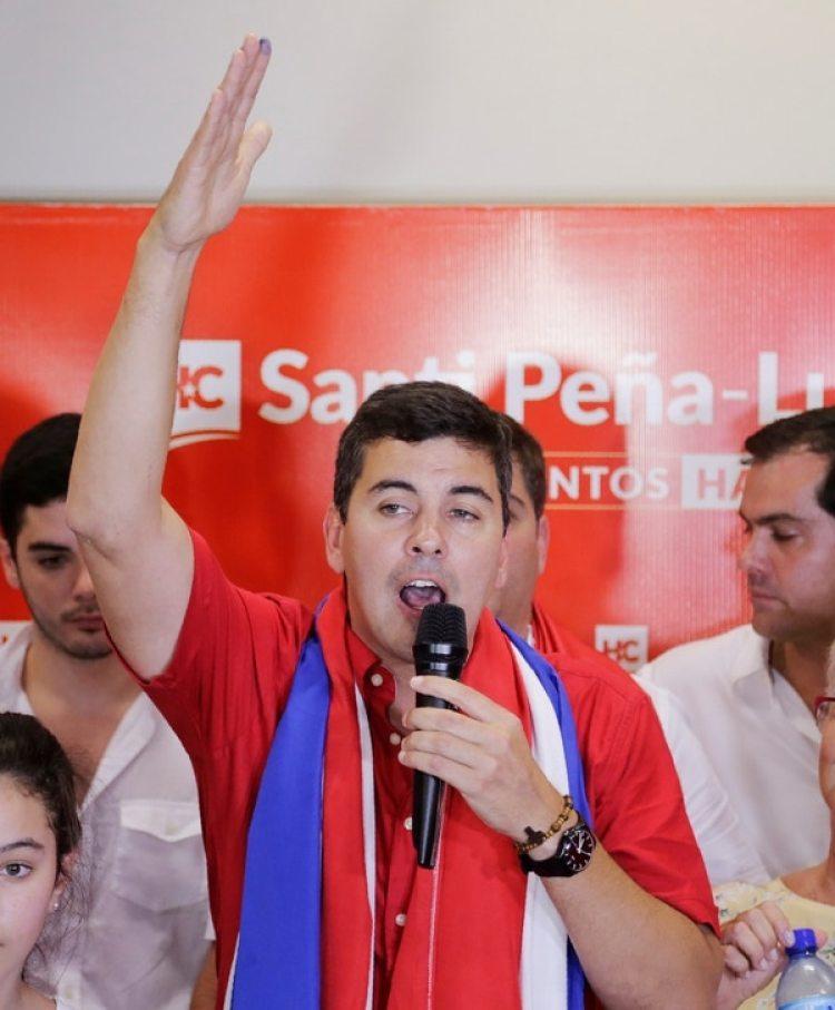 Santiago Peña era el candidato apoyado por el presidente Horacio Cartes (REUTERS/Jorge Adorno)