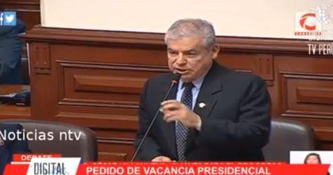 Congresistas peruanos debaten pedido de vacancia presidencial. Foto: captura transmisión de NTV