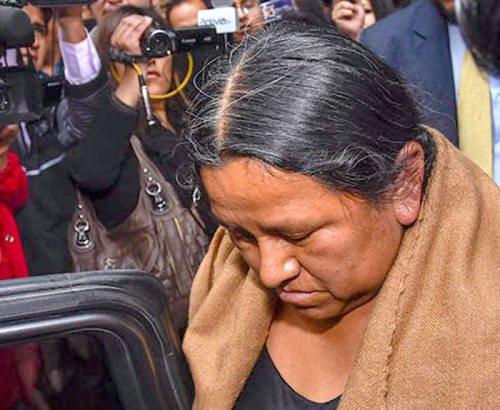 NEMESIA ACHACOLLO, EX MINISTRA DE DESARROLLO RURAL Y PRESIDENTA DEL DIRECTORIO DE FONDIOC.