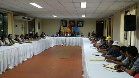 La reunión del gabinete ampliado en Villa Tunari.
