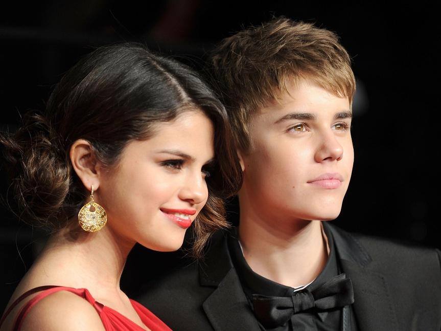 Justin Bieber y Selena Gomez.