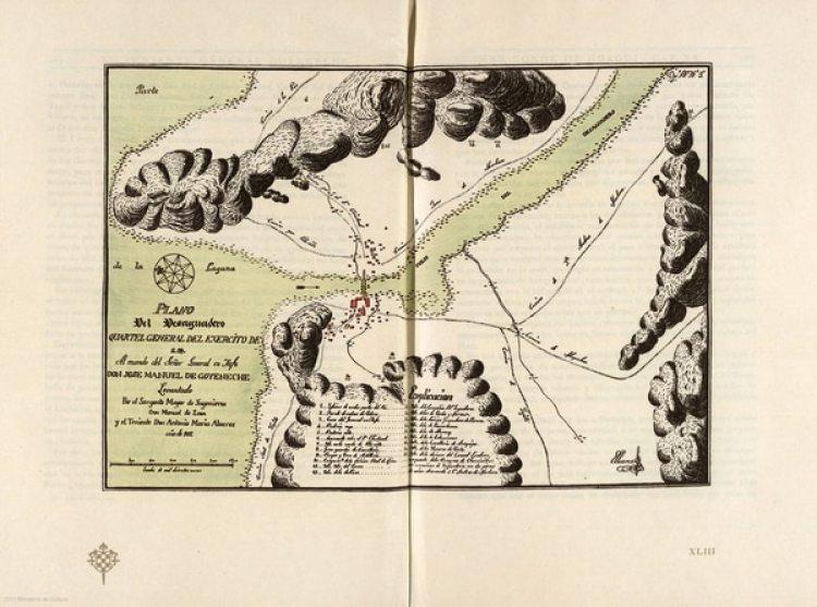 Un plano del río Desaguadero encargado por el general realista Goyeneche antes de la batalla (Alejandro Rabinovich)