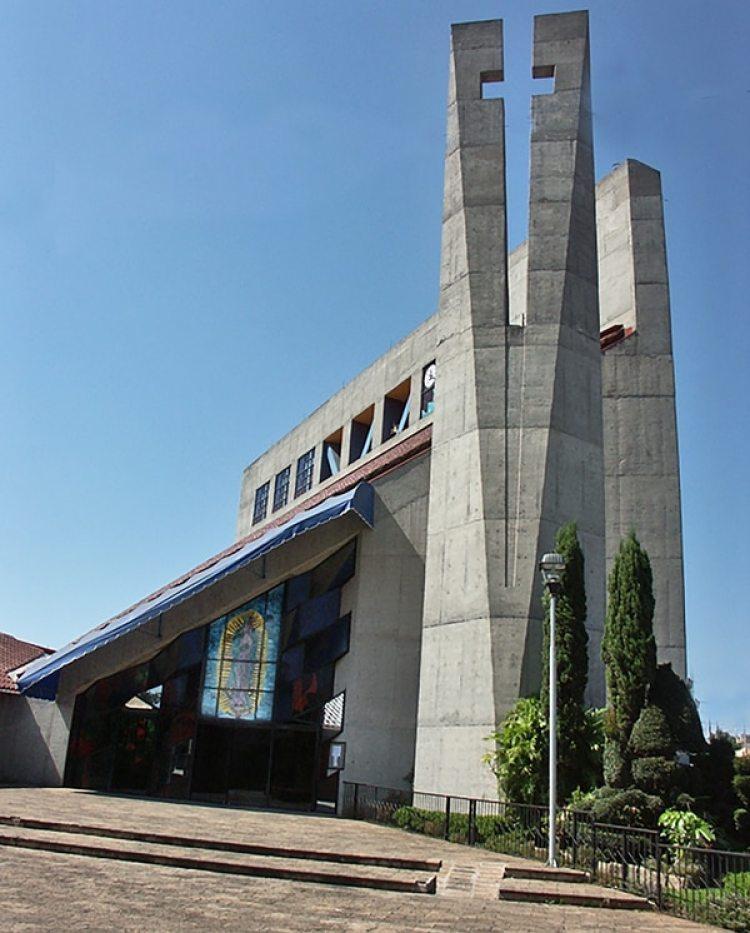 La moderna Iglesia del Sagrado Corazón de Tocumbo