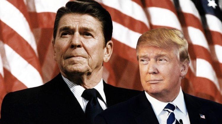 Si Donald Trump (derecha) no promueve una reforma fiscal integral que incluye una reducción del gasto público, su política económica estará condenada al mismo destino cortoplacista que la de Ronald Reagan (izquierda) en los ochenta