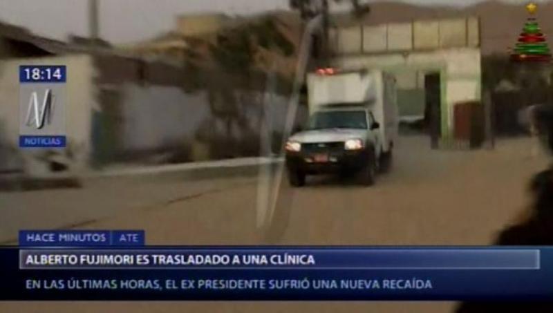 Traslado de Alberto Fujimori a clínica local.