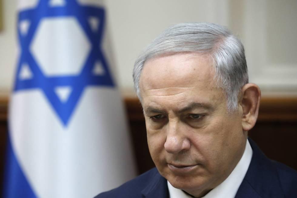 El primer mimistro de Israel, Benjamín Netanyahu, en la reunión del Gobierno, el domingo en Jerusalén.