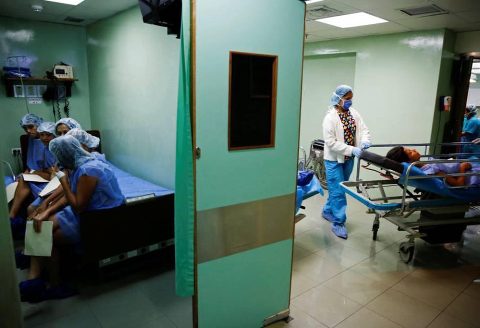 Un hospital en Caracas, en julio de 2016.